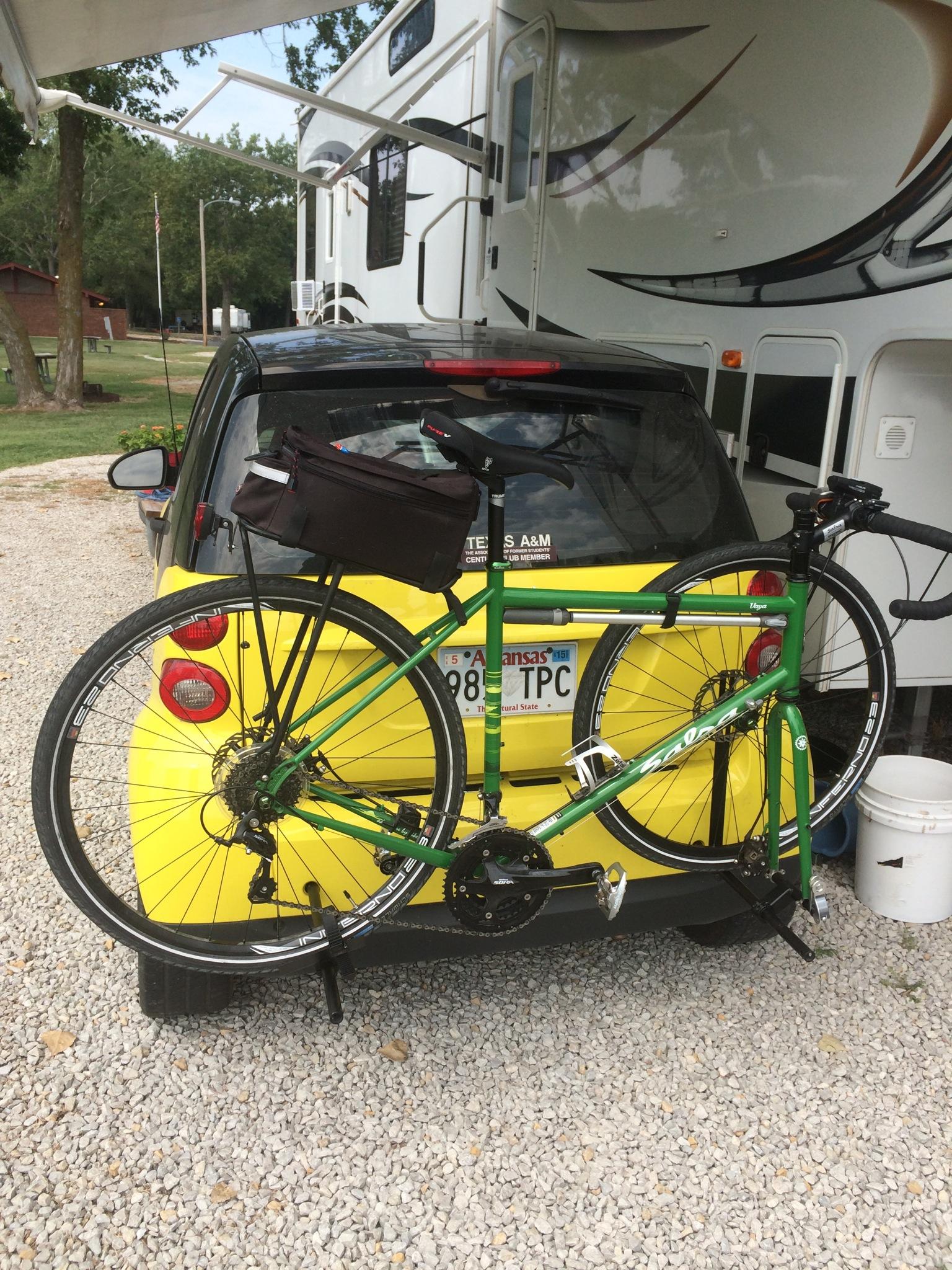 Smart car bike rack | RV Having Fun